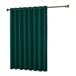 Bella Luna Maya Woven Blackout Teal Grommet Extra Wide Patio Door Curtain Panel   108 in. W x 84 in. L YMC004963