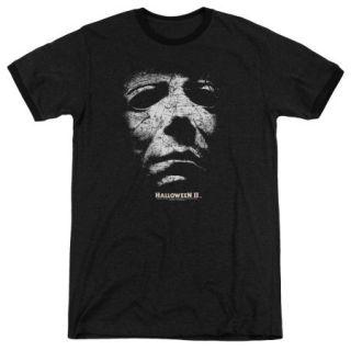 Halloween Ii Mask Mens Adult Heather Ringer Shirt