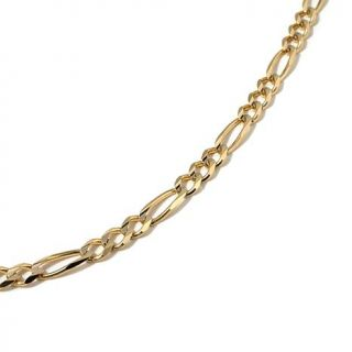 "Sevilla Gold 14K Yellow Gold 3.8mm Figaro Link Chain 24"" Necklace   8139697"