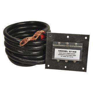 ASSOCIATED EQUIP Heavy Duty 5 ft. Flush Mounted Plug Plug In Polarized Stainless Steel Socket, Black   45RK28|6149   Grainger